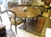 Tavolo a mezzaluna in legno di noce